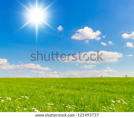Dream Wallpaper Sunshine Scene - stock photo