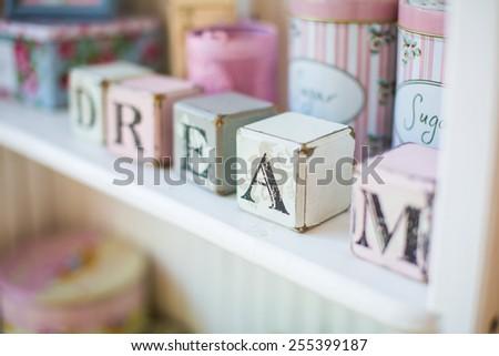 Dream word background - stock photo