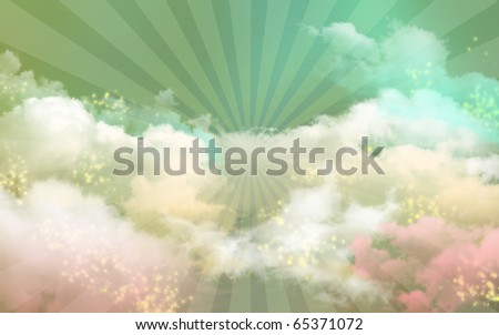 Dreaming in Heaven Day - stock photo