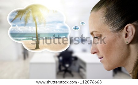 dreaming on holiday - stock photo