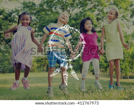 Dreams Catcher Indians Symbolic Sign Concept - stock photo