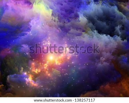 Dreamscape Series. Abstract design made of colorful fractal paint and lights on the subject of art, abstraction and creativity - stock photo