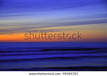 Dreamscape: Sky and Sea After Sunset - stock photo