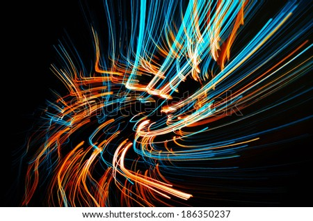 Dreamy blazing colorful lines - stock photo