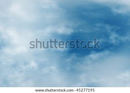 dreamy blue sky, cloudscape background - stock photo
