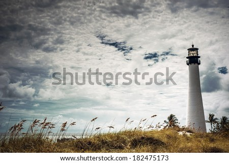 Dreamy lighthouse - stock photo