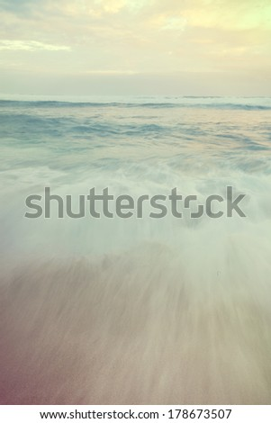 Dreamy shot of the ocean on Hookipa Beach on the north shore of Maui.   - stock photo