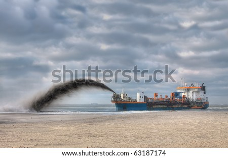 Dredging - stock photo
