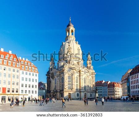 Dresden. Frauenkirche church. - stock photo