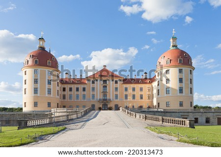 Dresden - Germany - Castle of Moritzburg - stock photo