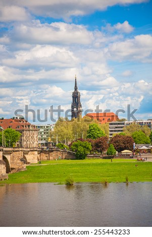 Dresden in a beautiful summer day, Germany. - stock photo