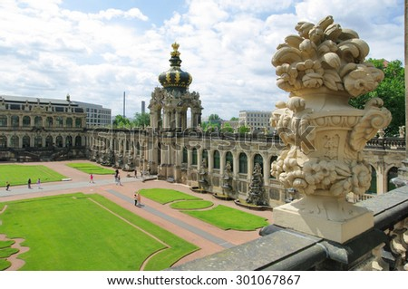 Dresden, Zwinger museum - stock photo