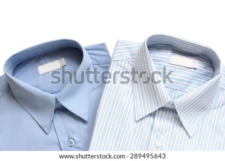 Dress shirts isolated on white background