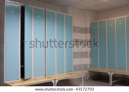 dressing room detail - stock photo