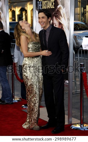 Drew Barrymore and Justin Long at the Los Angeles premiere of 'Going The Distance' held at the Grauman's Chinese Theater in Hollywood on August 23, 2010.   - stock photo