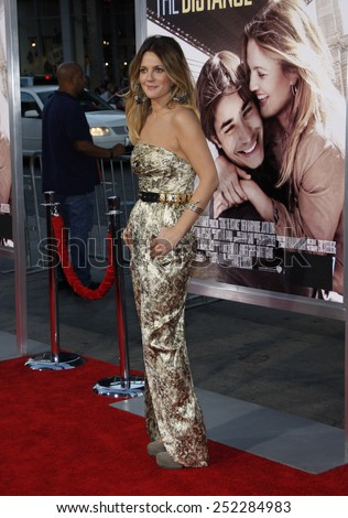 """Drew Barrymore at the Los Angeles Premiere of """"Going The Distance"""" held at the Grauman's Chinese Theater in Hollywood, California, United States on August 23, 2010.  - stock photo"""