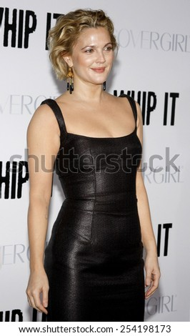 """Drew Barrymore at the Los Angeles Premiere of """"Whip It"""" held at the Grauman's Chinese Theater in Hollywood, California, United States on September 29, 2009.  - stock photo"""