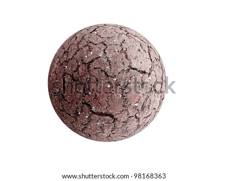 Dried and cracked Earth sphere as global warming concept - stock photo