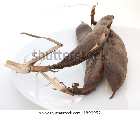 Dried beans, isolated - stock photo