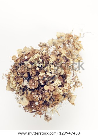 Dried bridal bouquet - stock photo