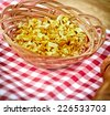 Dried celery - small pieces - stock photo