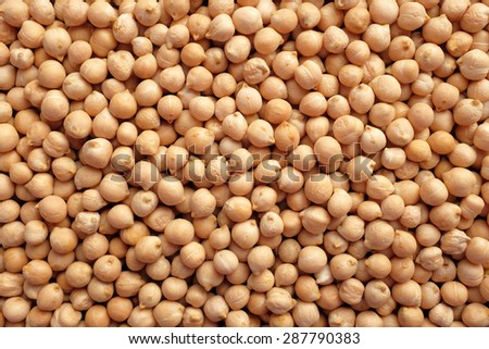 Dried chick peas as an abstract background texture - stock photo