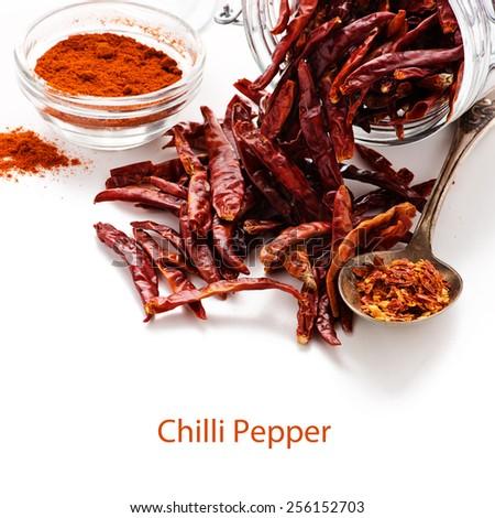 Dried chili. - stock photo