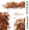 Dried chopped leaves of tobacco, premium rolling tobacco - stock photo
