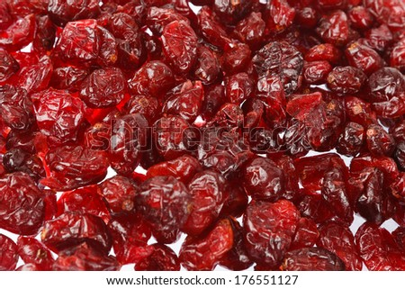 Dried cranberries can be used as background - stock photo