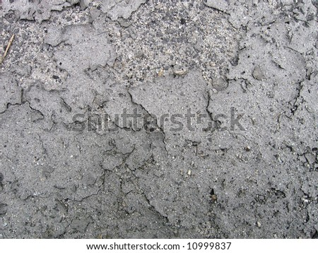 Dried Dirt Surface - stock photo
