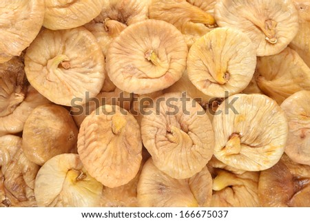 Dried figs as background texture - stock photo