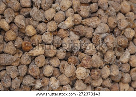 Dried figs background in a market place - stock photo