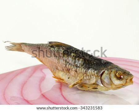dried fish, stockfish - stock photo