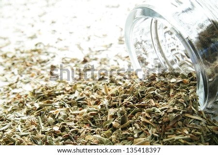 dried french herbs de provence - stock photo