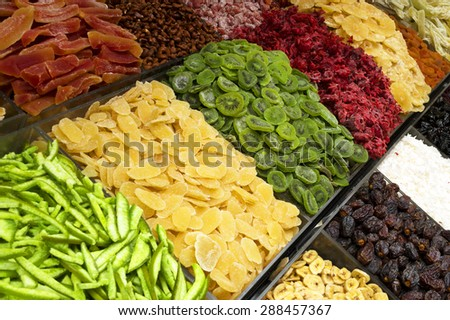 Dried fruits - stock photo