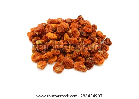Dried goldenberries, isolated on a white background - stock photo