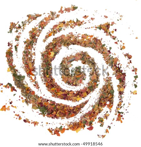 Dried Herbs and Spices Galaxy - stock photo