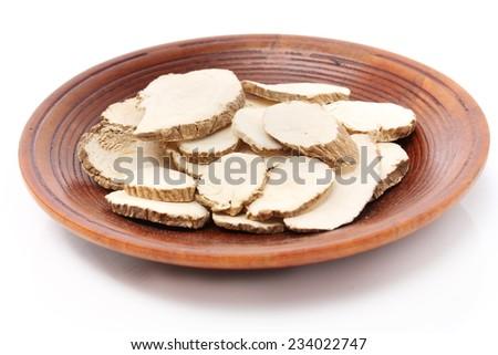 Dried Herbs,Sand Ginger, Aromatic Ginger, Resurrection Lily,Kaempferia galanga L.,ZINGIBERACEAE - stock photo