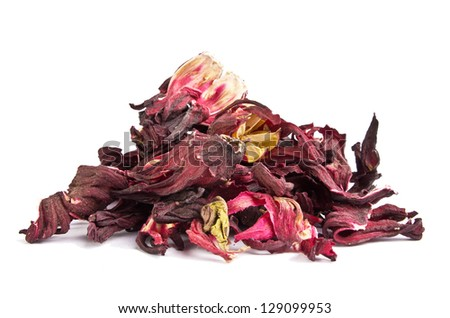 Dried hibiscus leaves - stock photo