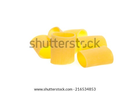 Dried italian pasta isolated in white background - stock photo