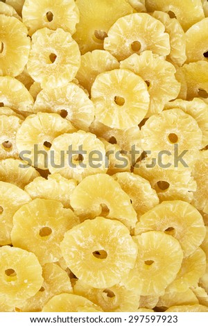 Dried pineapple slices - stock photo