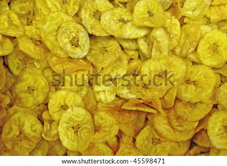 Dried plantains background - stock photo