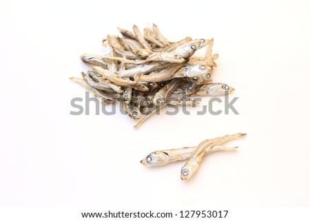 Dried sardine - stock photo