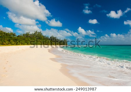 Drill Beach is a beautiful beaches on the Caribbean island of Barbados - stock photo
