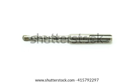 drill bit for brick and concrete on a white background - stock photo