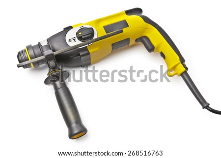 Drill isolated on white - stock photo