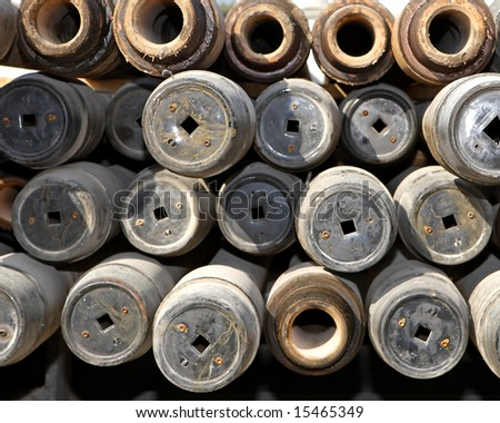 Drill pipe - stock photo