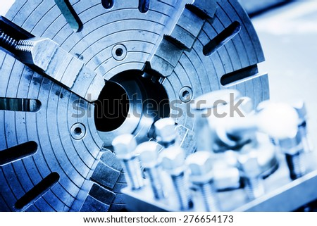 Drilling, boring and milling machine in workshop. Industry, industrial concept. - stock photo