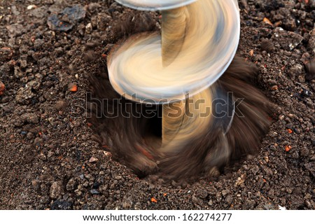 drilling drill ground - stock photo