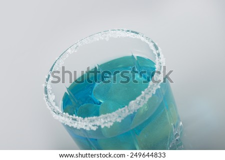 Drink blue. - stock photo